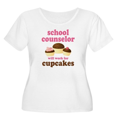 Funny School Counselor Women's Plus Size Scoop Nec