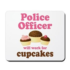 Funny Police Officer Mousepad