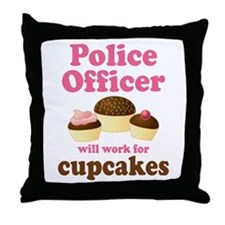 Funny Police Officer Throw Pillow