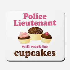 Funny Police Lieutenant Mousepad