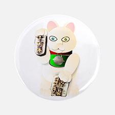 """Maneki Neko 3.5"""" Button"""