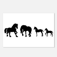 Cute Fresian horse Postcards (Package of 8)