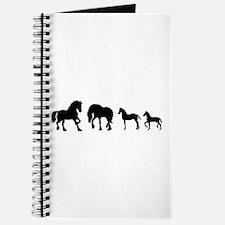 Cute Fresian horse Journal