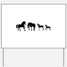 Cute Friesian horse Yard Sign