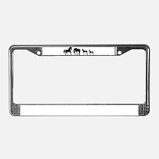 Cute Fresian horse License Plate Frame