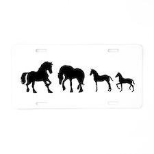 Cute Horse Aluminum License Plate
