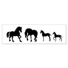 Cute Fresian horse Bumper Sticker