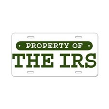 Property of the IRS Aluminum License Plate