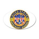 Merchant Marine Mason 38.5 x 24.5 Oval Wall Peel