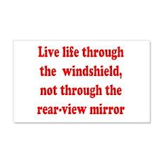 Live life through the windshi 22x14 Wall Peel
