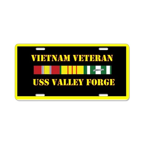 USS Valley Forge Aluminum License Plate