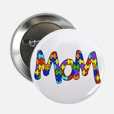 "Mom Autism Awareness 2.25"" Button"