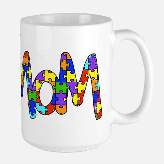 Mom Autism Awareness Large Mug