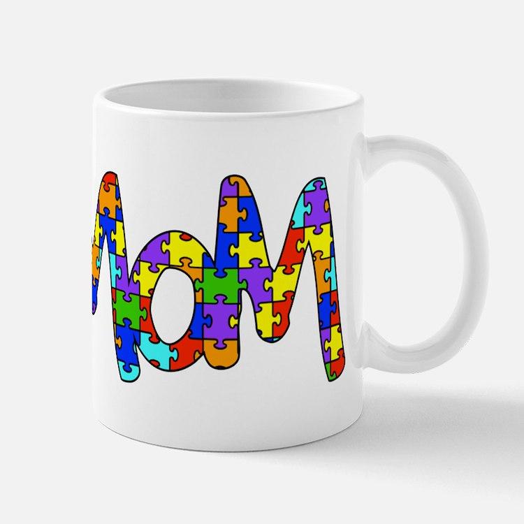 Mom Autism Awareness Mug