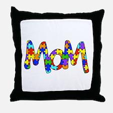 Mom Autism Awareness Throw Pillow