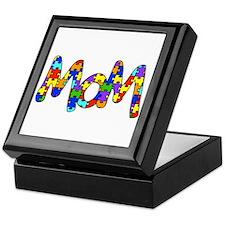 Mom Autism Awareness Keepsake Box