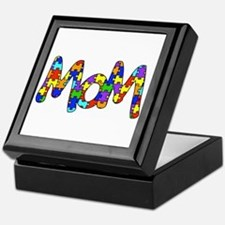 Mom Autism Awareness Keepsake Box