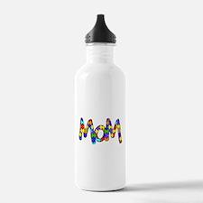 Mom Autism Awareness Water Bottle
