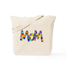 Mom Autism Awareness Tote Bag