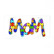Mom Autism Awareness Aluminum License Plate