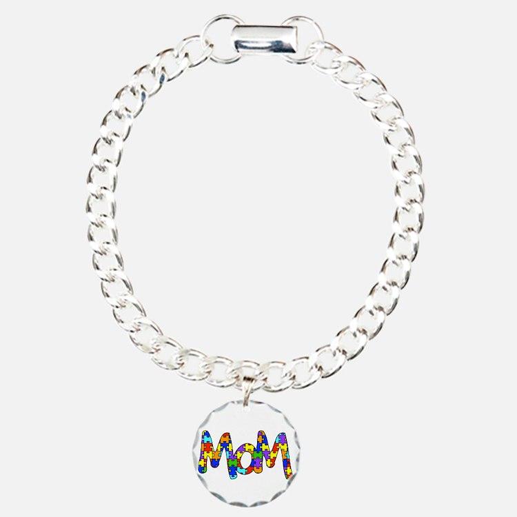 Mom Autism Awareness Bracelet