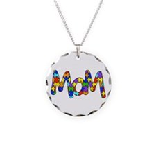 Mom Autism Awareness Necklace