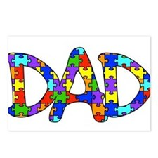 Dad Autism Awareness Postcards (Package of 8)