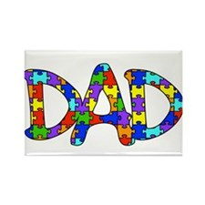 Dad Autism Awareness Rectangle Magnet