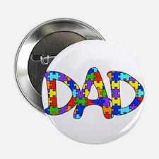 """Dad Autism Awareness 2.25"""" Button"""