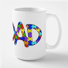 Dad Autism Awareness Mug