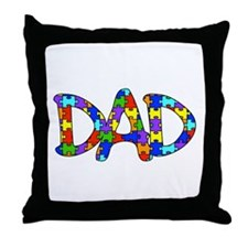 Dad Autism Awareness Throw Pillow