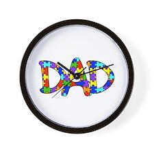 Dad Autism Awareness Wall Clock