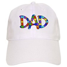 Dad Autism Awareness Baseball Cap