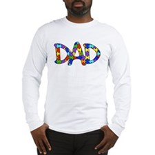 Dad Autism Awareness Long Sleeve T-Shirt