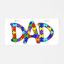 Dad Autism Awareness Aluminum License Plate