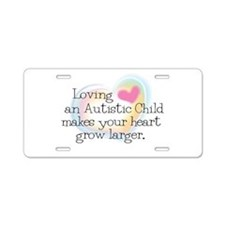 Growing Heart Aluminum License Plate