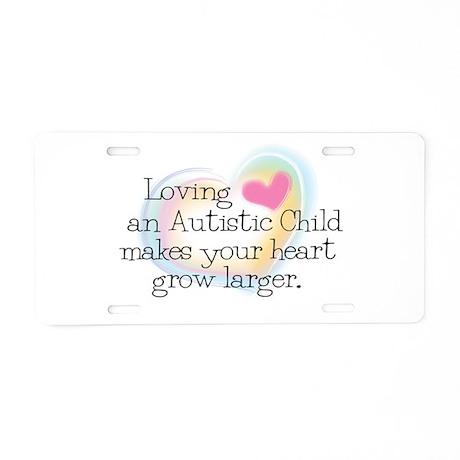 Growing Heart Aluminum License Plate