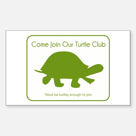 Turtle Club Sticker (Rectangle)