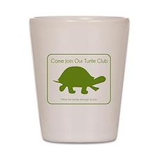 Turtle Club Shot Glass