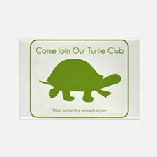 Turtle Club Rectangle Magnet
