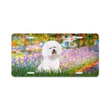 Monet's Garden / Bichon Aluminum License Plate
