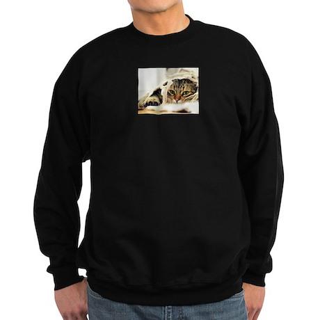 Tabby Cat Sweatshirt (dark)