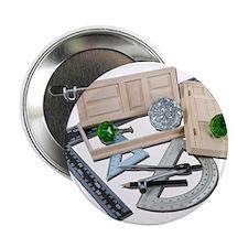 """Crystal Doorknob Door Rulers 2.25"""" Button"""