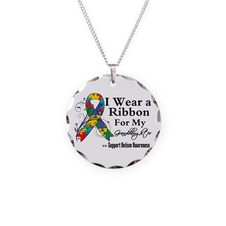 Granddaughter - Autism Necklace Circle Charm