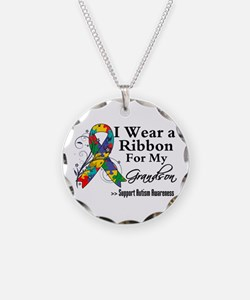Grandson - Autism Ribbon Necklace