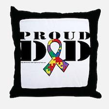 Autism Proud Dad Throw Pillow