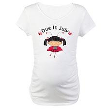 July Ladybug Due Date Shirt