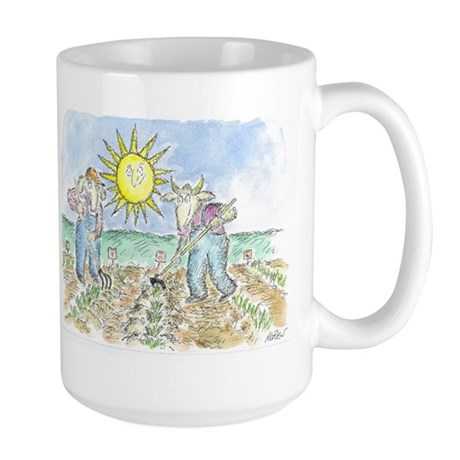 """Two Farmers"" by Ed Koren - Large Mug"
