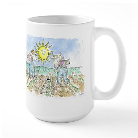 """Two Farmers"" by Ed Koren - Large Mug"