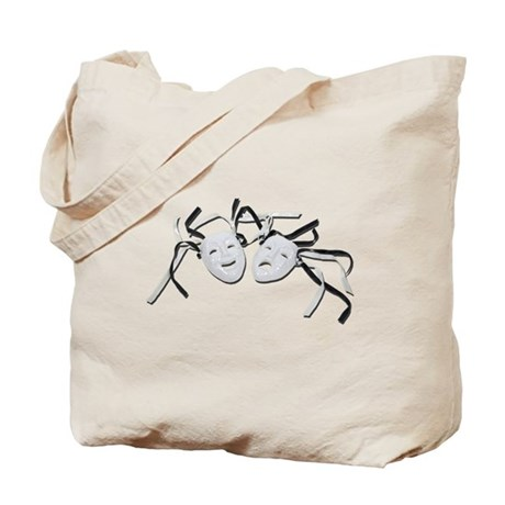Comedy Tragedy Faces Tote Bag